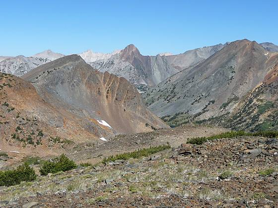 Looking northwest from Burro Pass (11,100-ft.)